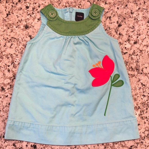 🎉 Baby gap spring or summer dress w/ diaper cover